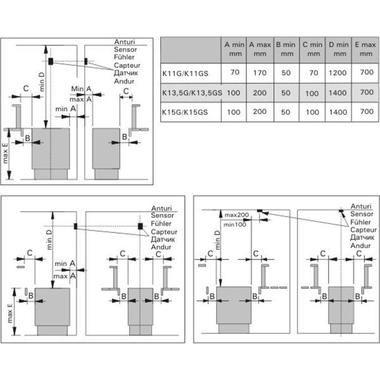 Схема присоединительных размеров электрокаменок класса Harvia Club