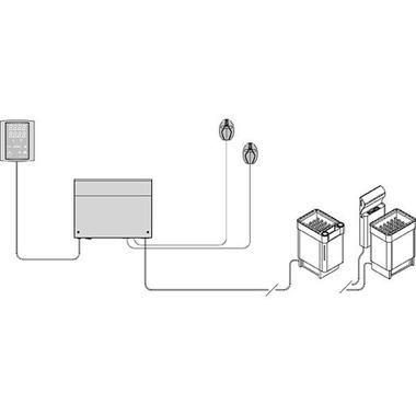 Схема пульта управления Harvia Griffin CG в сауну и баню
