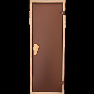 Дверь для саун стеклянные Tesli (бронза)