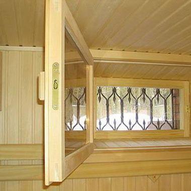 Окно индивидуального размера для сауны и бани