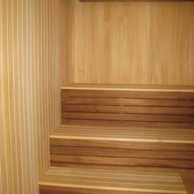 Древесина липы термо для полок в баню и сауну